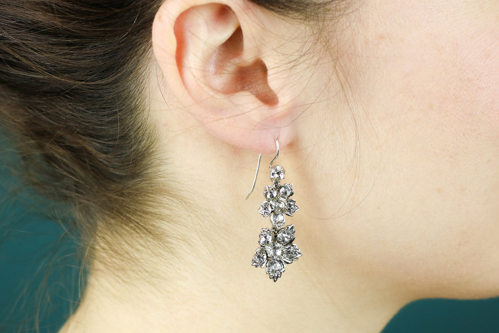 Antique Paste Drop Earrings