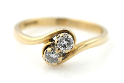 "9ct Gold ""Toi Et Moi"" Twin Diamond Engagement Ring - 0.20ct"