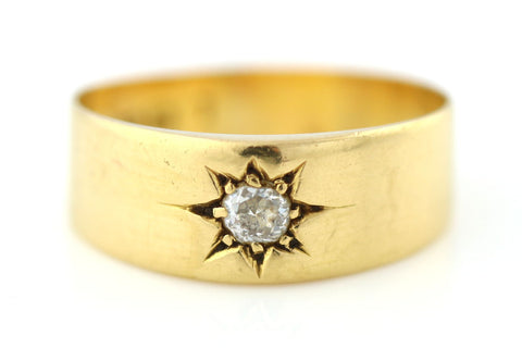 "Victorian 18ct Gold ""Gypsy"" Diamond Ring - Circa 1850"