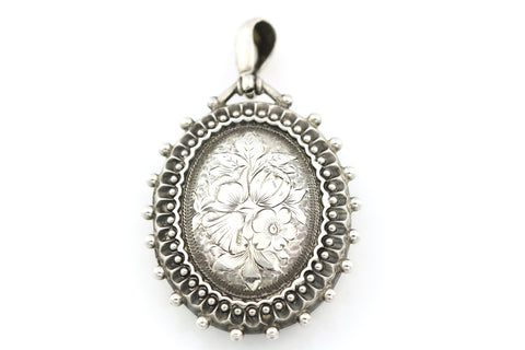 Gorgeous Antique Victorian Aesthetic Silver Locket- Circa 1885