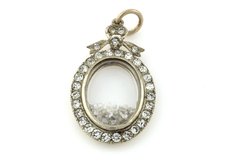 Edwardian Diamond Shaker Locket & 9ct Gold Chain - Circa 1903