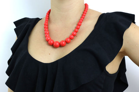 Retro 1950's Bead Necklace - Mad Men Style
