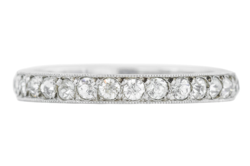 Large Art Deco Diamond Paste Full Eternity Ring