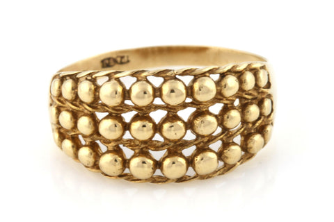 Cool Retro 9ct Gold Keeper Ring
