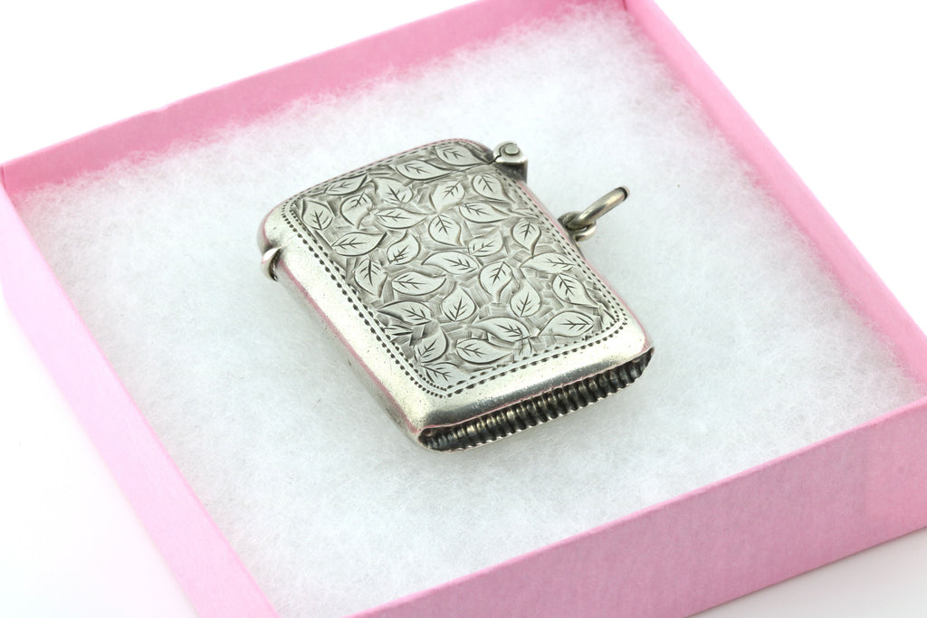 Impressive English Silver Vesta Case Pendant - c.1908
