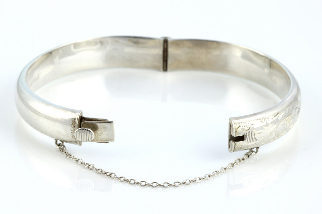 Vintage 1970's Sterling Silver Bangle - Full English Hallmarks