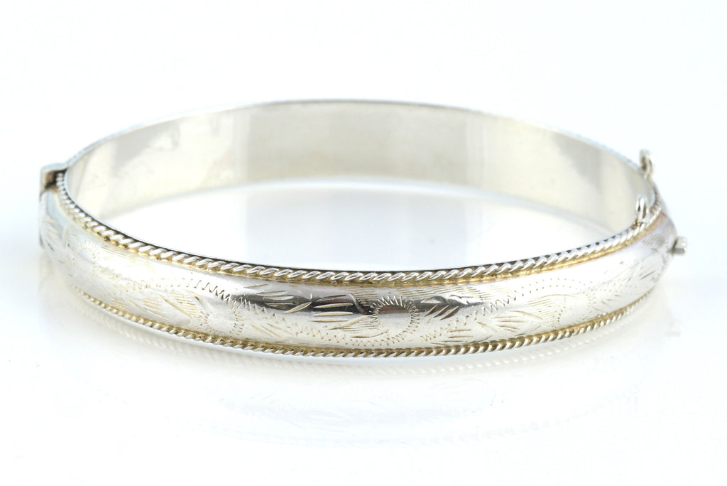 1960's Sterling Silver Retro Stacking Bangle