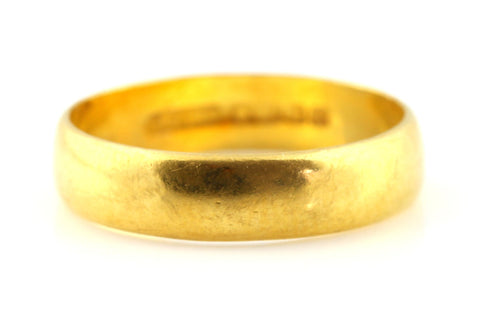 Vintage 22ct Gold Wedding Ring - 4mm Band