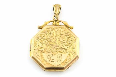 Victorian 9ct Gold Octagonal Locket