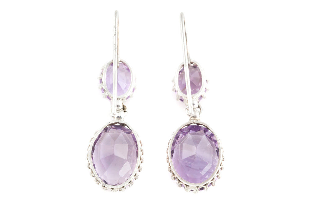 Victorian Amethyst Drop Earrings