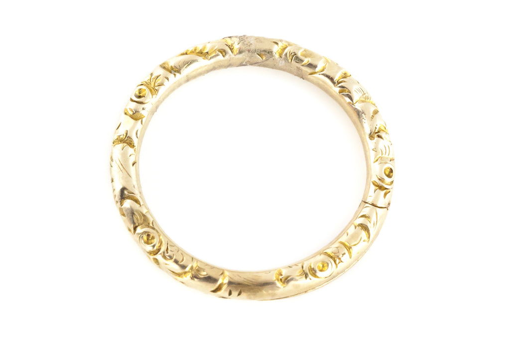 Antique Victorian 9ct Gold Split Ring (1.5cm)