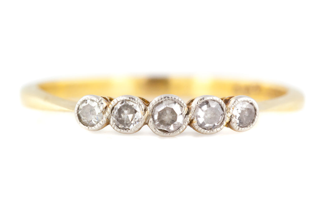 Art Deco 5 Stone Diamond Ring c.1920