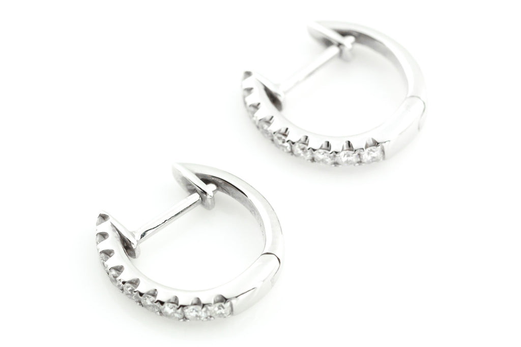 18ct Gold Diamond Hoop Earrings (0.30ct)