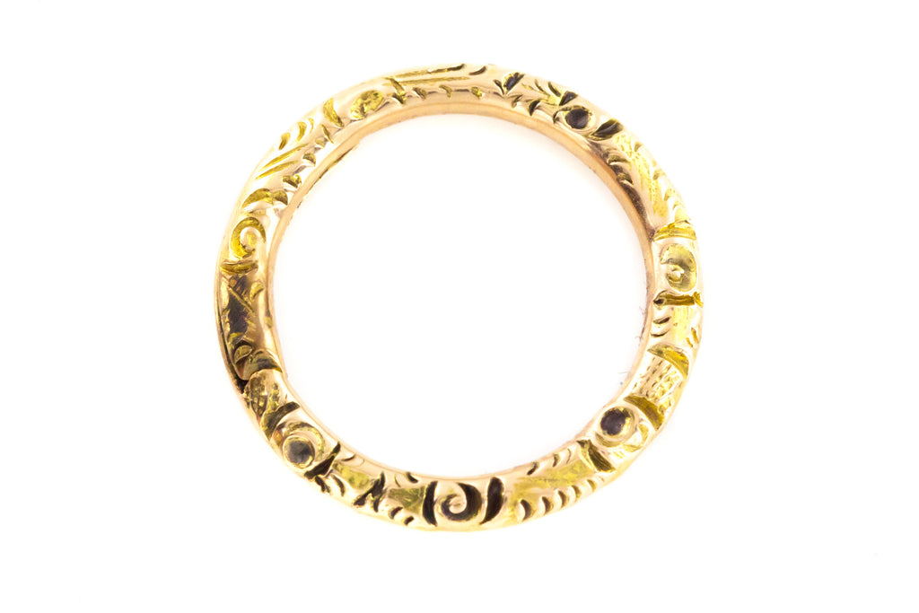 Antique Victorian 15ct Gold Split Ring (11mm)