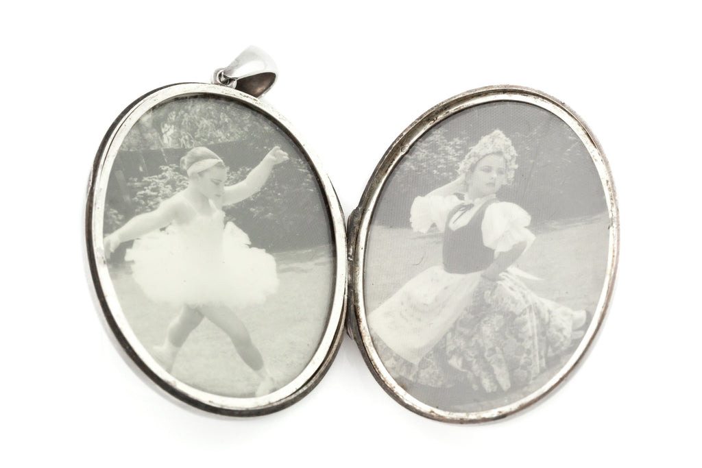 Fine English Silver Victorian Aesthetic Locket c.1893