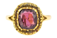 9ct Gold Antique Victorian Garnet Ring