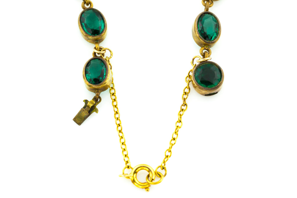 Art Deco Green Paste Riviere Necklace c.1920