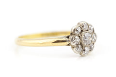 18ct Gold Art Deco Diamond Daisy Ring c.1920