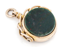Antique 9ct Gold Swivel Fob Pendant c.1912