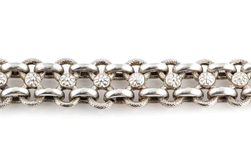 Antique Silver Albertina Bracelet - c.1880