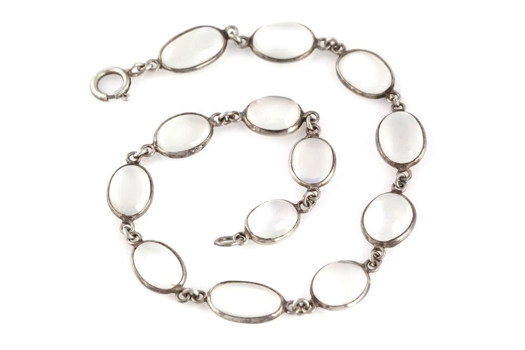 Antique Silver Moonstone Bracelet c.1900