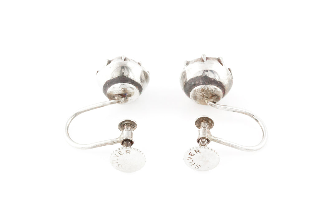 Georgian Paste Silver Earrings c.1800