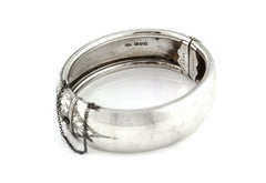 Chunky Vintage Silver Hinged Bangle c.1950