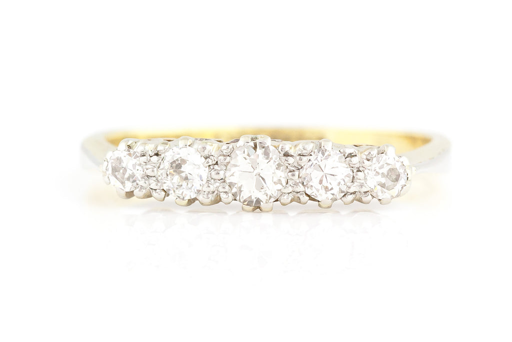 Victorian 5 Stone Diamond Ring c.1850