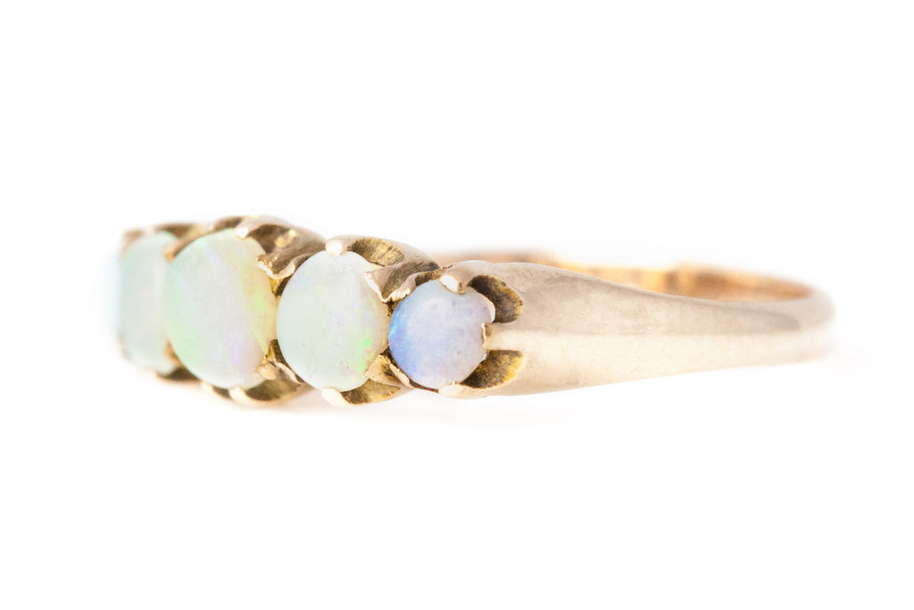 "RESERVED for ""L""!- Victorian 5 Stone Opal Ring c.1880"