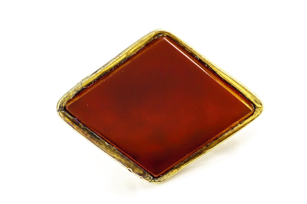 Antique 9ct Gold Cased Carnelian Fob with Horse c.1850