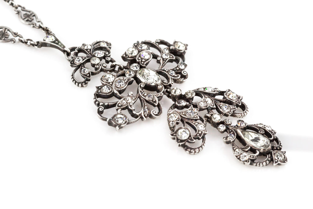 Victorian Silver Paste Necklace c.1890
