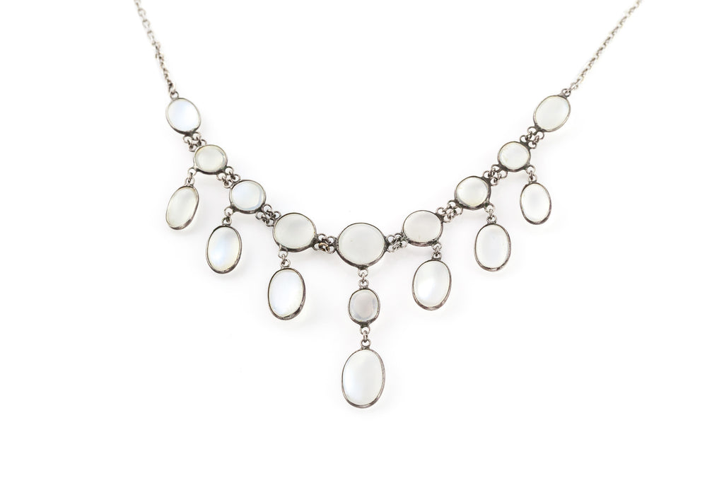 Antique Moonstone Festoon Necklace c.1900