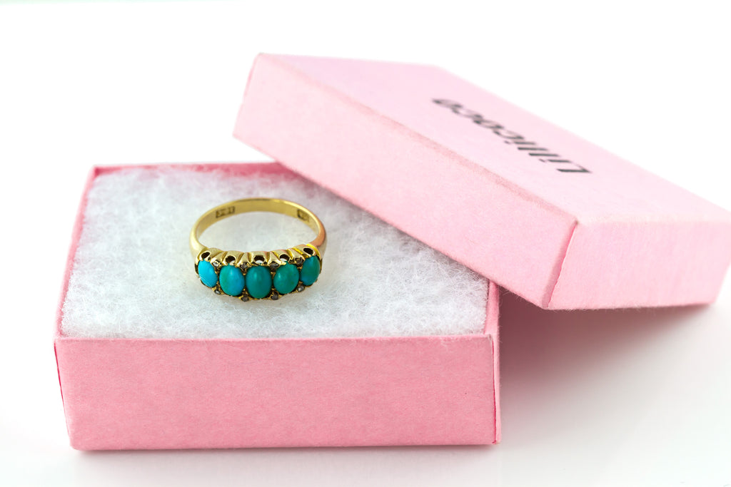 18ct Gold Antique Victorian Turquoise Ring c.1880