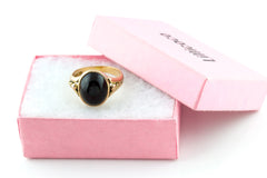 Antique 9ct Gold Garnet Cabochon Ring c.1890 - (11.12ct Garnet)
