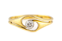 Art Nouveau 18ct Gold Diamond Engagement Ring c.1900