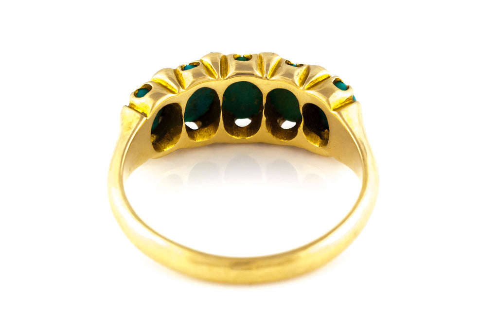 RESERVED for K! -18ct Gold Antique Victorian Turquoise Ring c.1880