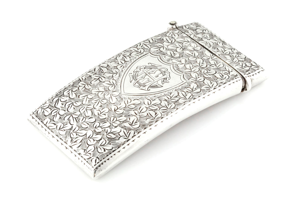 Antique Silver Card Case - Hallmarked English Silver c.1912