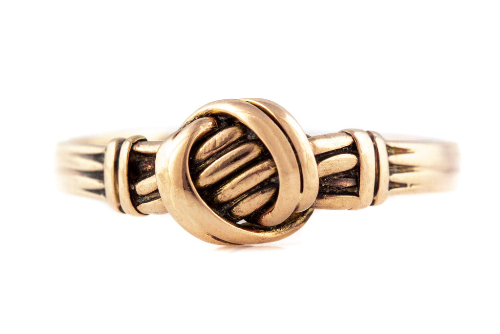 Victorian 9ct Gold Knot Ring c.1876