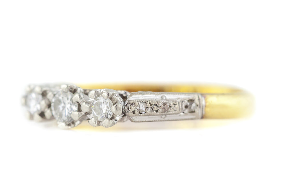 Art Deco Diamond Trilogy Ring c.1920