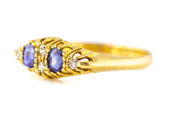 Edwardian Sapphire and Diamond Ring c.1908