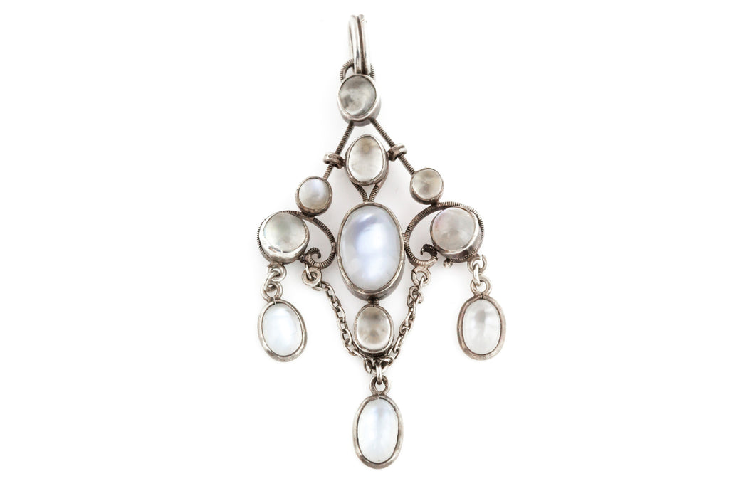 Arts and Crafts era Moonstone Drop Pendant