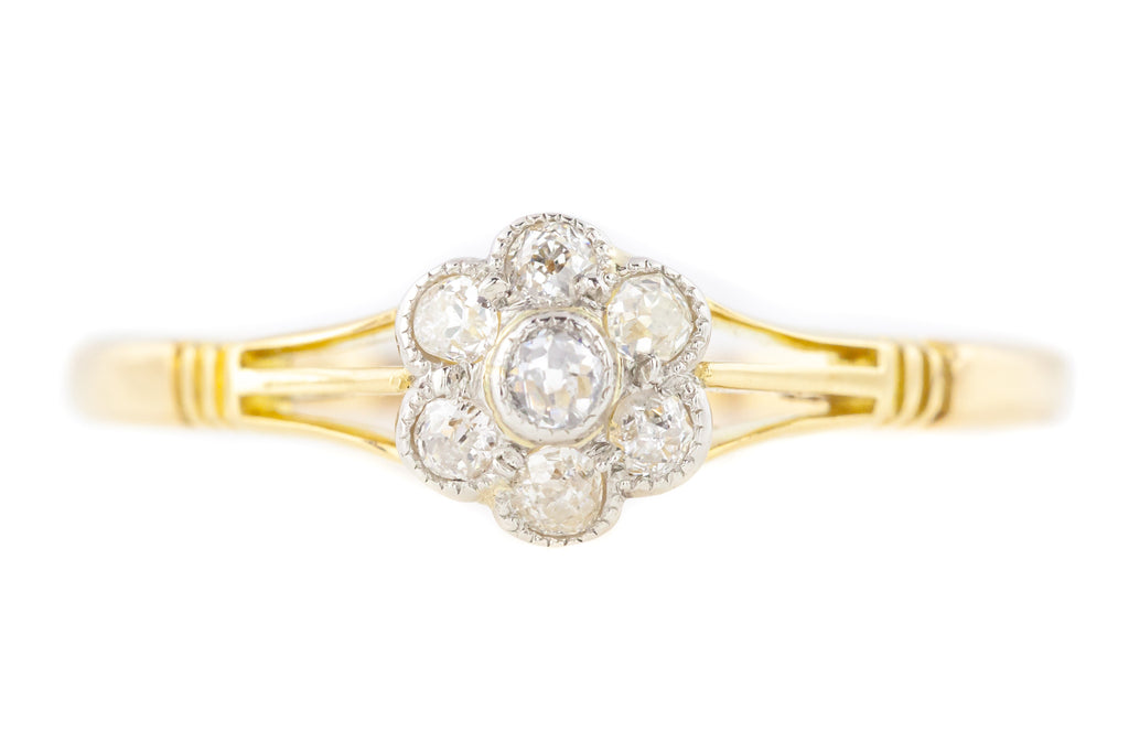 Edwardian Diamond Cluster Ring (0.20ct)
