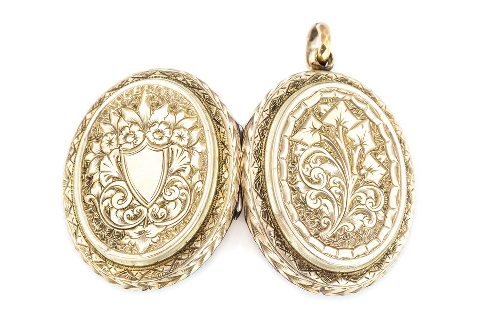 Victorian 9ct Gold Oval Locket