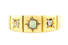 Antique Opal Diamond Stacking Ring c.1876