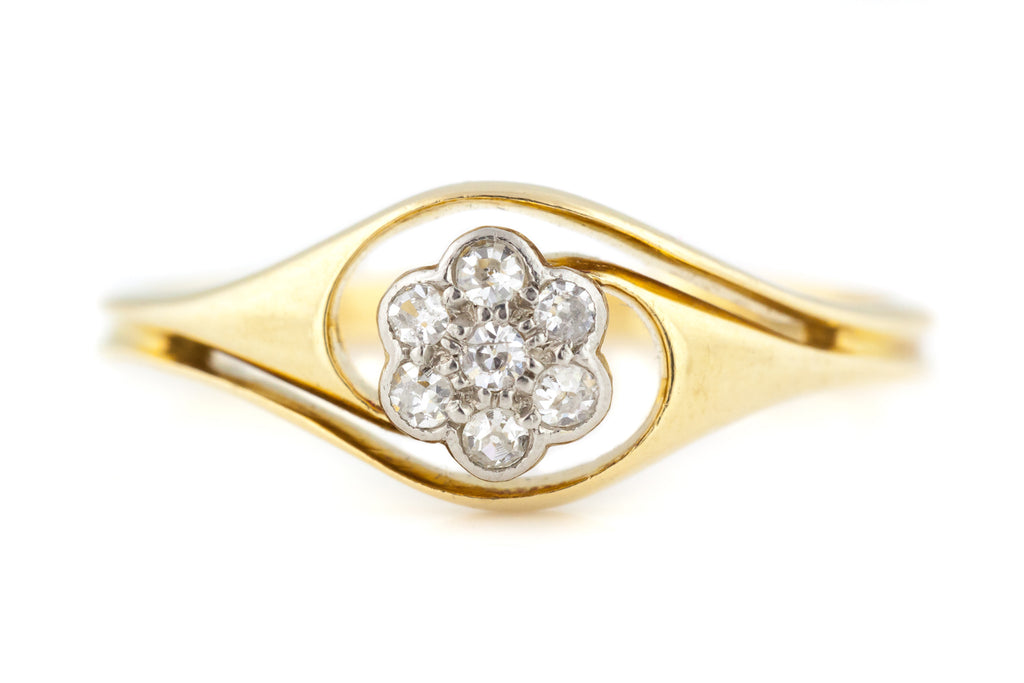 Art Nouveau Diamond Cluster Ring c.1900