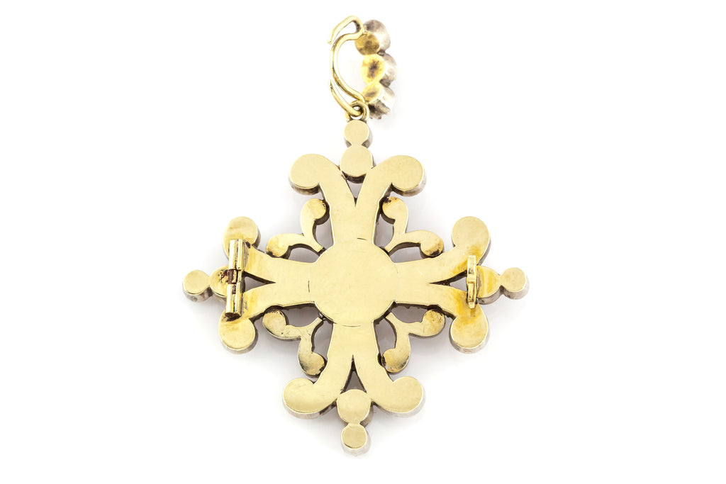 Georgian Maltese Cross Paste Pendant c.1820
