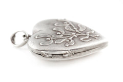 Art Nouveau French Silver Mistletoe Locket c.1900