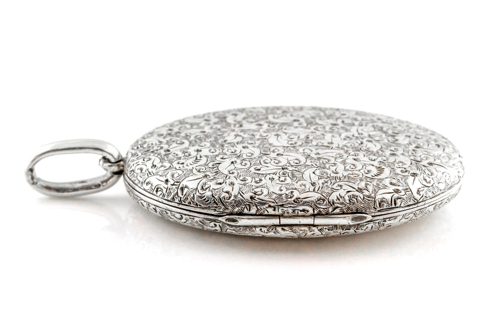 "RESERVED for ""B""- Victorian Silver Locket c.1880"
