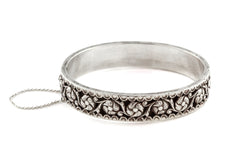French Art Nouveau Silver Bangle c.1910