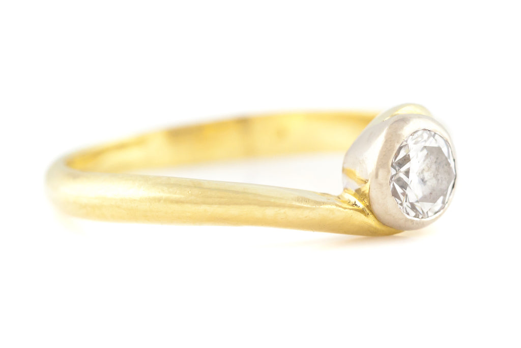 Antique 18ct Gold Diamond Engagement Ring (0.25ct)